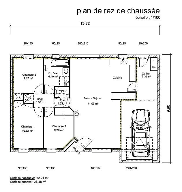Maison individuelle nantes maison bbc nantes constructeur maison nantes - Plan de coupe de maison ...