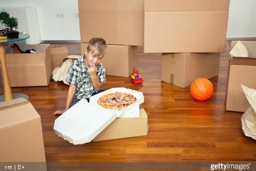 livraison pizza pour déménagement